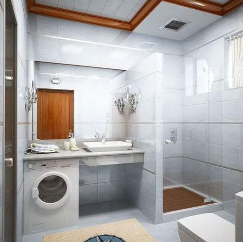 Дизайн ванной комнаты 4.5 кв м с туалетом и стиральной машиной